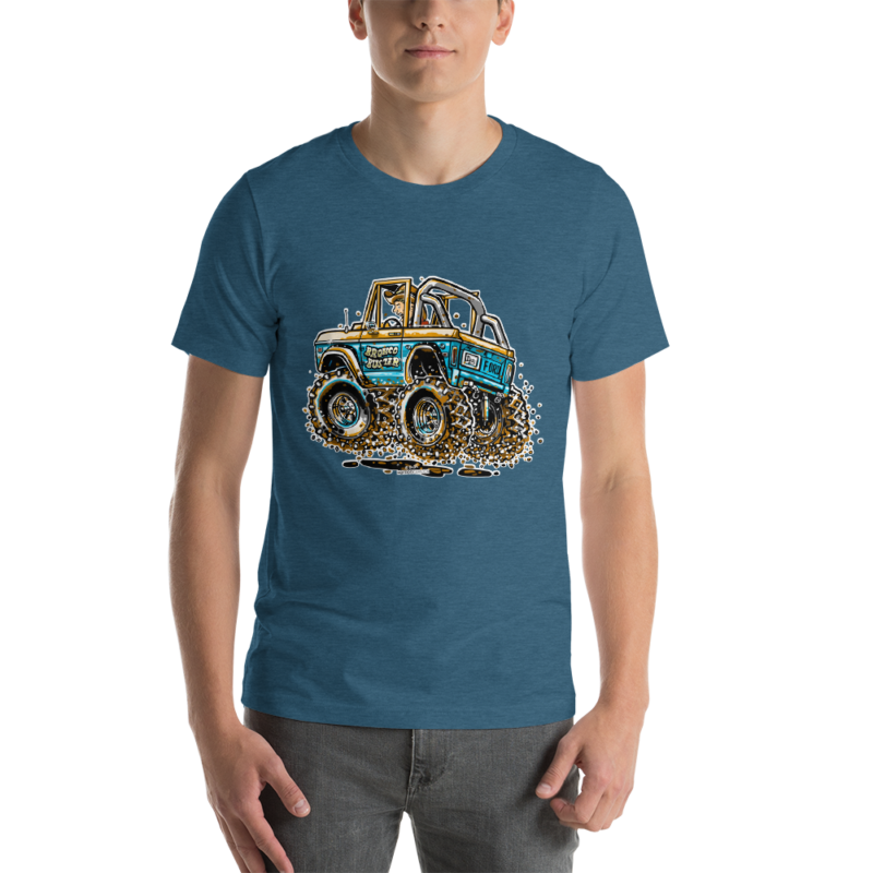 Classic Ford Bronco - Hot Rod Cartoon T-Shirt