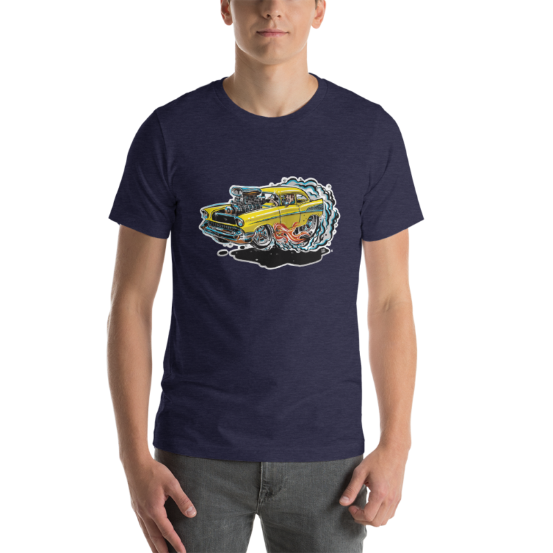 1957 Chevy Bel Air - Hot Rod Cartoon T-Shirt