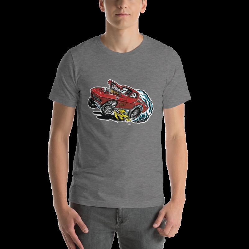 1963 Corvette Drag Car - Hot Rod Cartoon T-Shirt