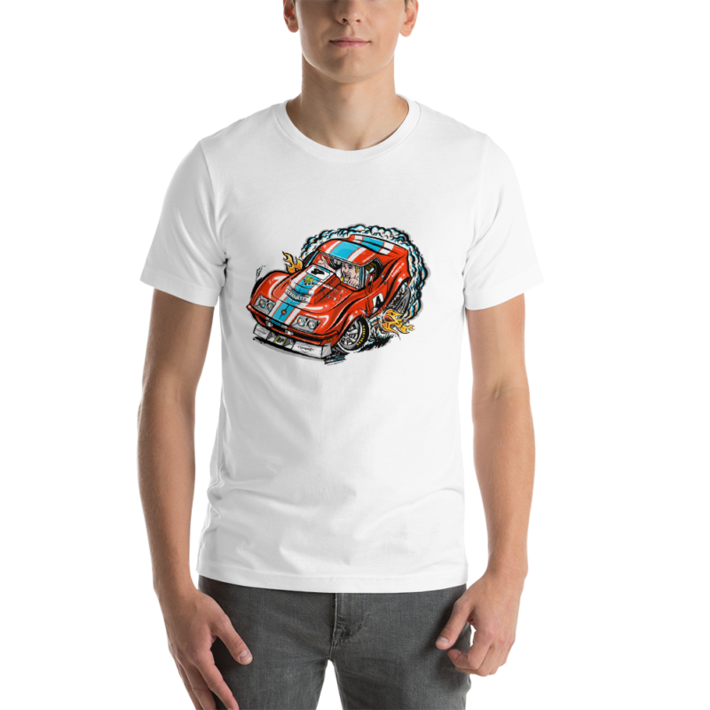 1968 L88 Corvette Race Car - Hot Rod Cartoon T-Shirt