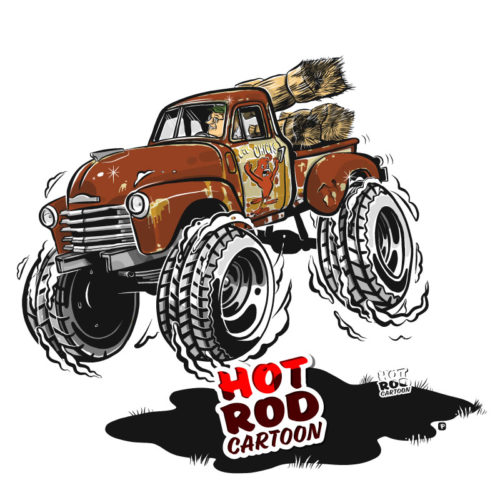1948 Chevy 3100 Pickup Truck | Hot Rod Cartoon