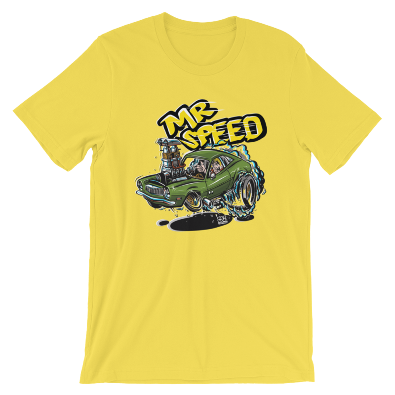 Mr. Speed Ford Pinto Hot Rod Cartoon T-Shirt - Yellow