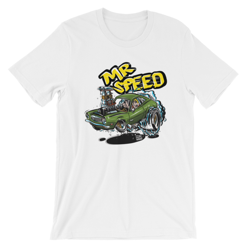 Mr. Speed Ford Pinto Hot Rod Cartoon T-Shirt - White