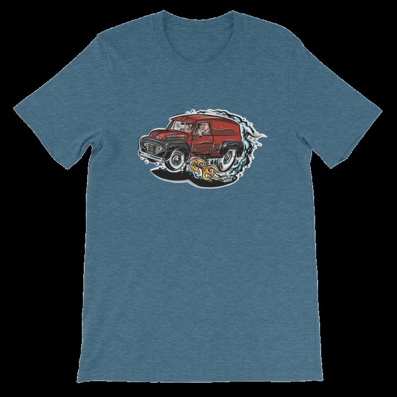1948 Ford F1 Panel Truck T-Shirt Hot Rod Cartoon | hotrodcartoon.com