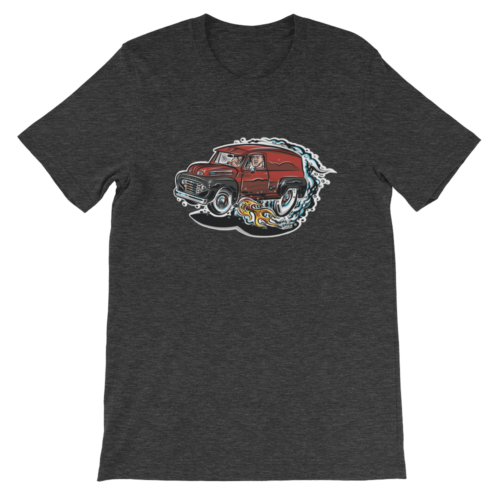 1948 Ford F1 Panel Truck T-Shirt Hot Rod Cartoon | hotrodcartoon.com