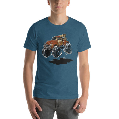 1948 Chevy 3100 Patina Pickup Truck T-Shirt | Hot Rod Cartoon