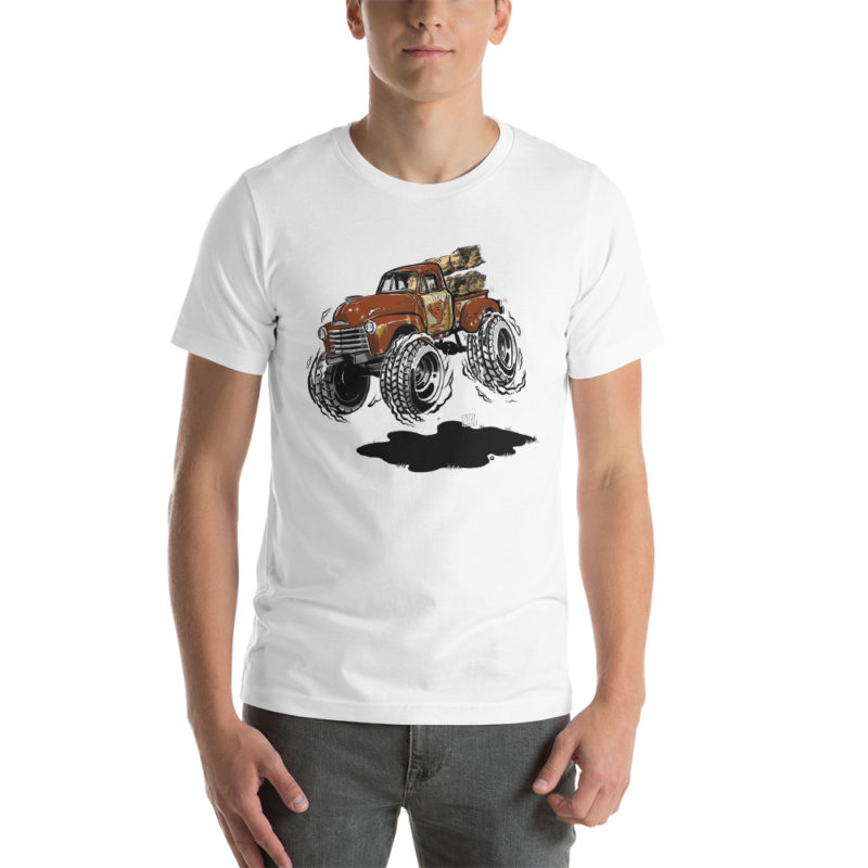 1948 Chevy 3100 Patina Pickup Truck T-Shirt White | Hot Rod Cartoon