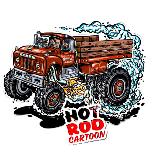 Hot Rod Cartoon Ford 4x4 F800