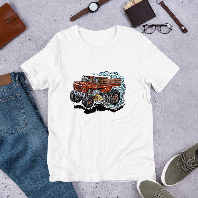 Hot Rod Cartoon Ford 4x4 F800 T-Shirt