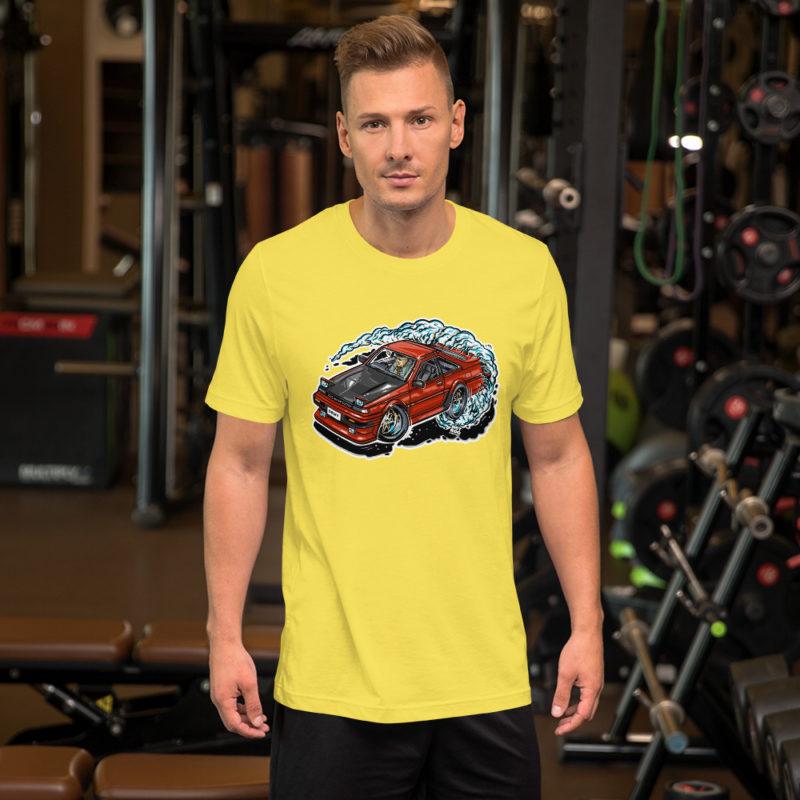Nissan S12 T-Shirt - Yellow. Hot Rod Cartoon.