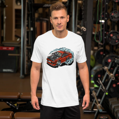 Nissan S12 T-Shirt - White. Hot Rod Cartoon.
