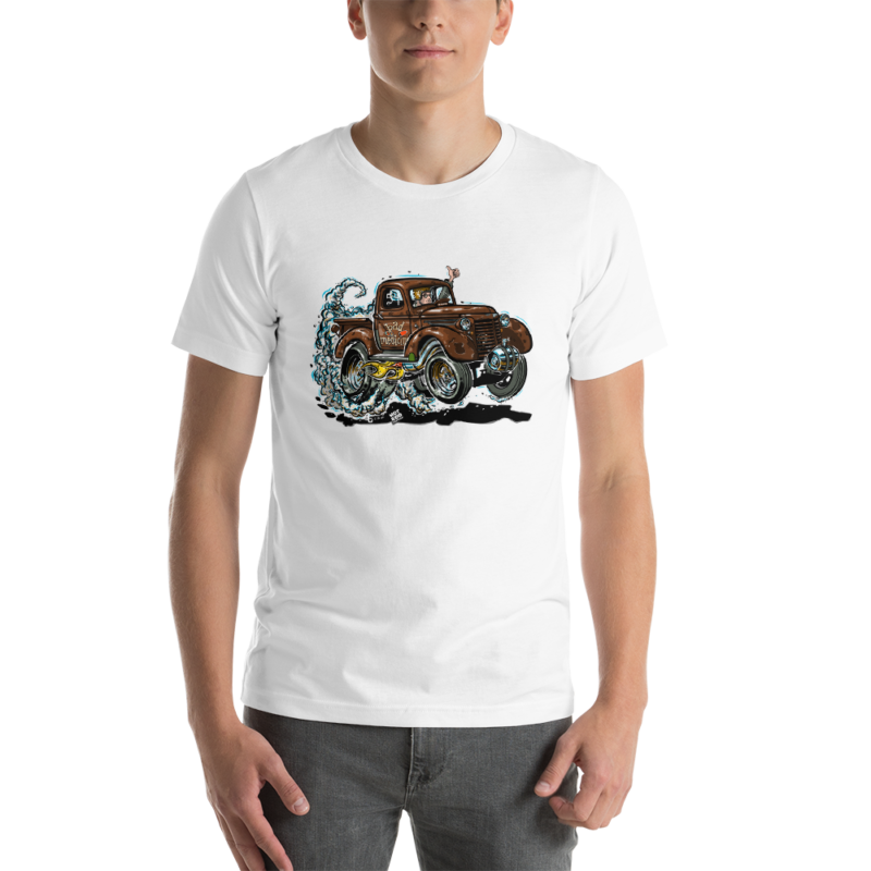 1940's Shorty Chevy Pickup Truck Drag Racer T-Shirt