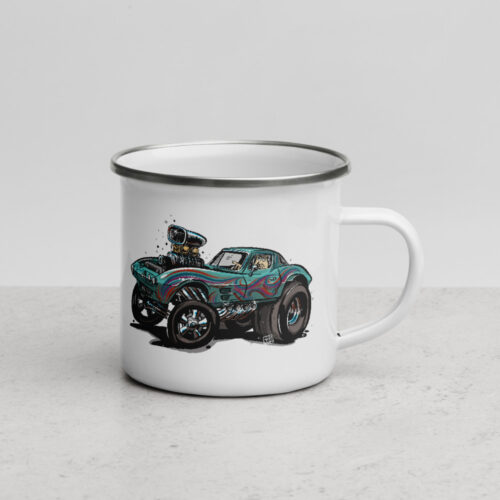 Hot Rod Cartoon Vette Mug
